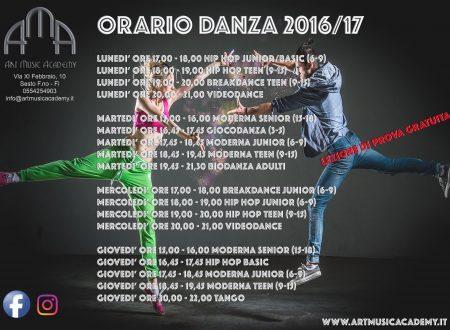 CORSI DI DANZA 2016 – 2017