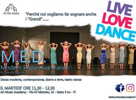 M.E.D. il corso di danza moderna, contemporanea, teatro danza e sbarra a terra per giovani e adulti