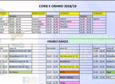 CORSI E ORARIO 2018-2019